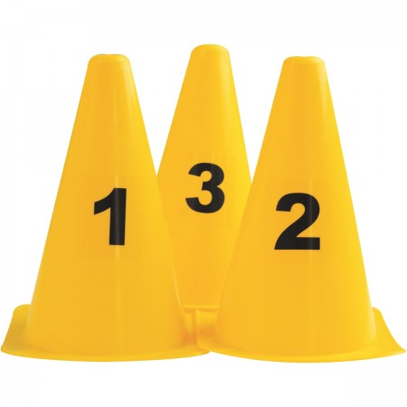 Set of 10 Numbered Cones