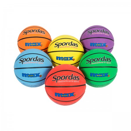 Set of 6 Spordas Max Basketballs Colored