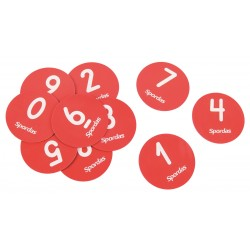 Set of 10 Small Numbered Spot Markers