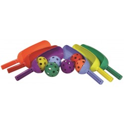 Scoop Set of 6 colored bats and balls