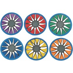 Set of 6 Color Twist Frisbees