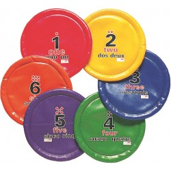 Easy Toss Saucers Set of 6 colors
