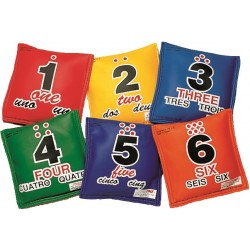 Utility Sequencing Bean Bags Set of 6 colors