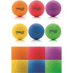 Pebble MultiUse Balls 21,5cm, Set of 6 Colors