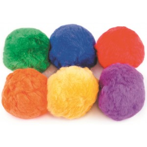 Set of 6 Fleece Balls