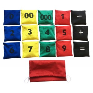 Numbered Beanbags Set