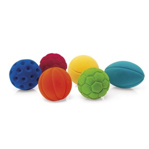 Set of 6 Rubbabu Mini-Sport Balls