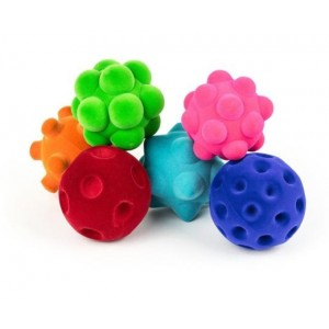 Set of 6 Rubbabu Sensory Balls