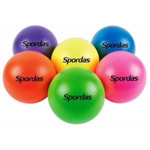 Neon colored foam balls 16cm - Set of 6