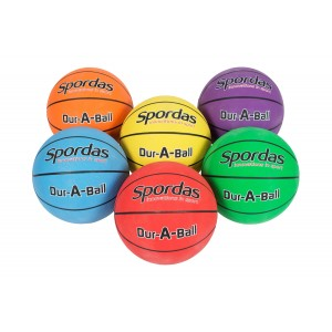 Set of 6 Spordas Dur-A-Ball Basketballs