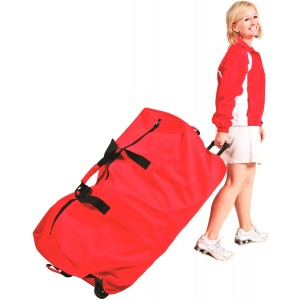 Big red wheeled Duffle bag